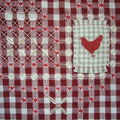 Coeur en Broderie Suisse et application de textile