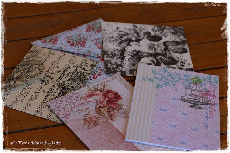 Carnets et enveloppes