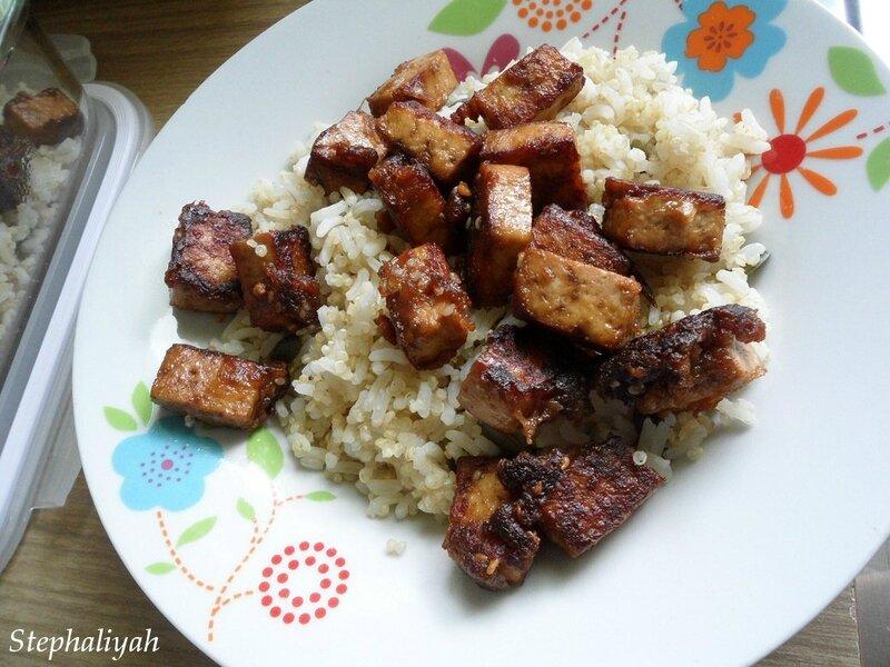 Tofu caramélisé sauce soja sésame - 2