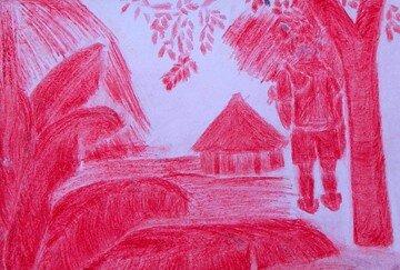 esquisse rouge