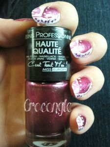 nail art french revisitée Crocongle3