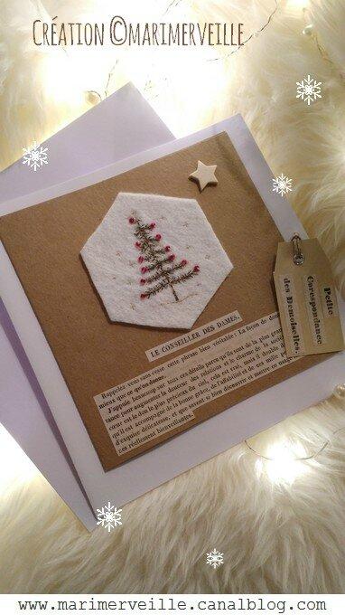 Carte sapin de Noël fil and craft Marimerveille N°5