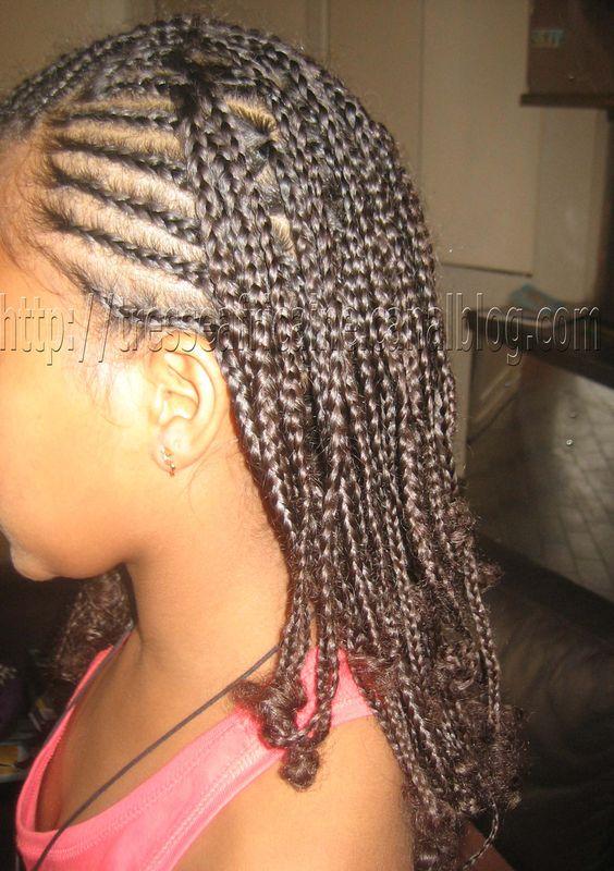 Tresses Africaines Nattes Collees Simples Demie Tete Enfant Metisse Cheveux Crepus Photo De Nattes Collees Demie Tete Mame Tresse