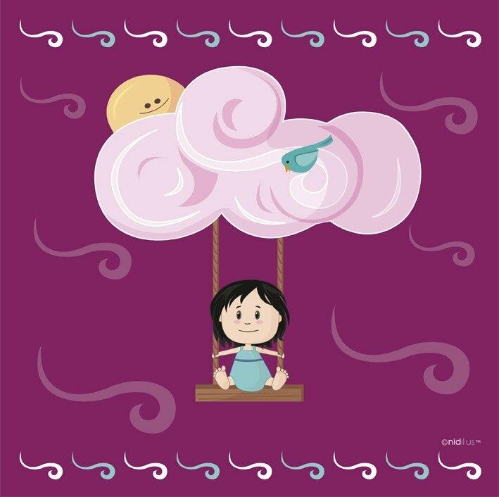 coupon nuage balancoire rose