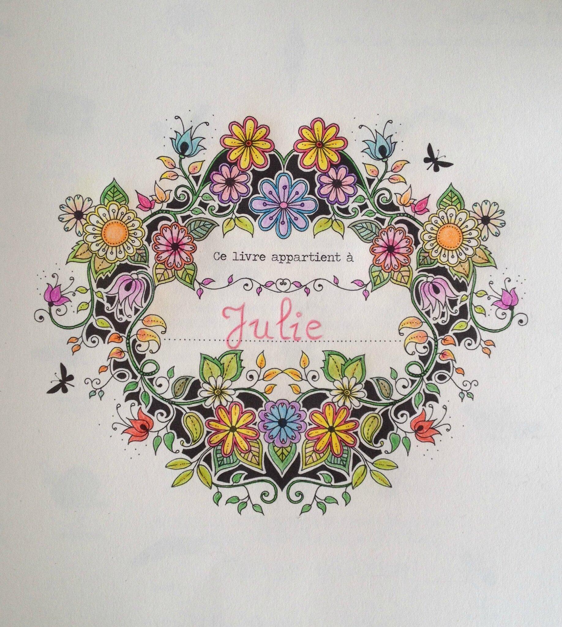 Page Prénom Jardin Secret Dans La Bulle De Julie
