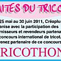 """Concours """"tricothon 2011"""" avec les blouses roses"""