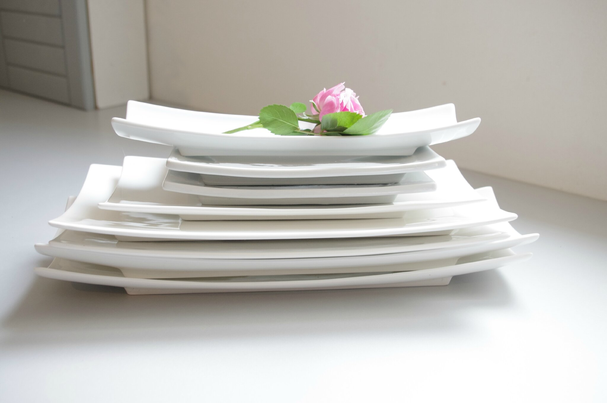 assiettes rectangles porcelaine - de 20 à 38 cm de long
