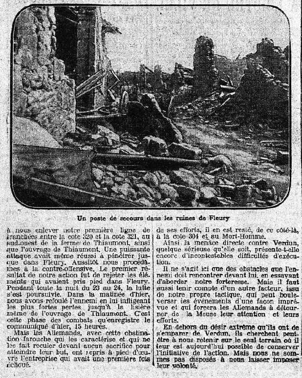 Fleury Le Matin 25 06 1916-1