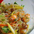 Salade de vermicelle et de crevettes