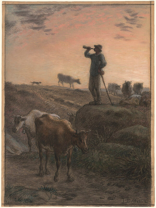 970px-Jean-François_Millet,_Calling_Home_the_Cows,_c