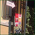 Exposição de iluminuras de marie-france parronchi e ícones de emmanuelle ordener falduzzi, em antibes (frança)
