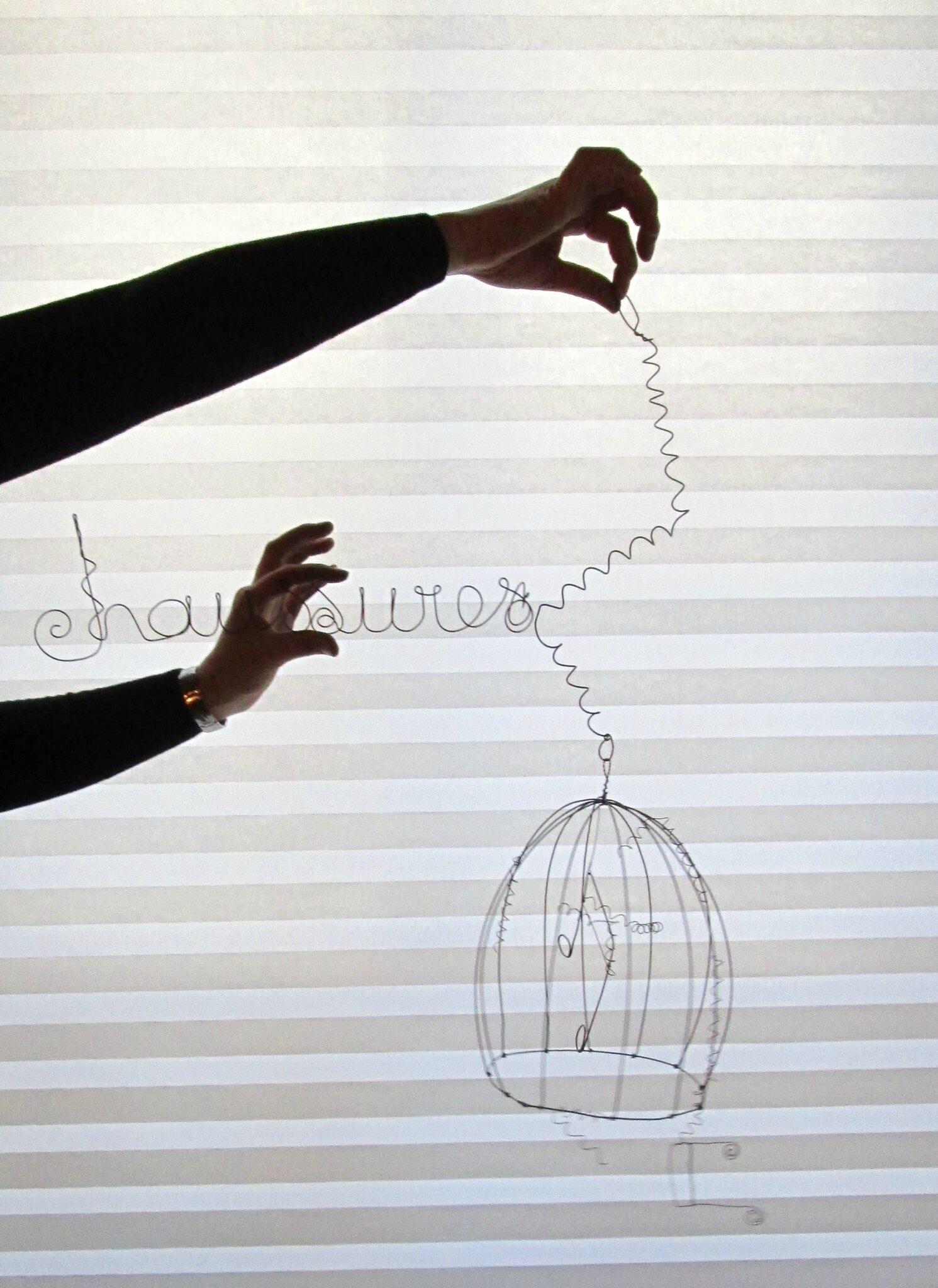 atelier fil de fer cage
