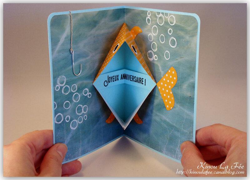 Carte pop up poisson rouge 2