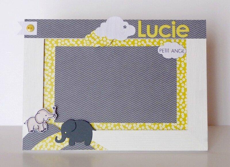 Cadre naissance elephant gris noir jaune (1)