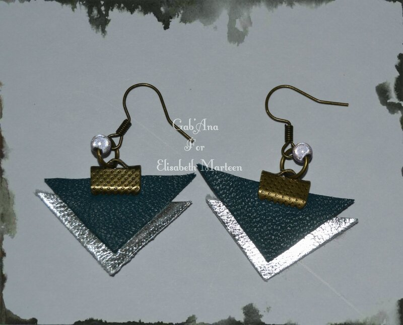 Boucles cuir triangle