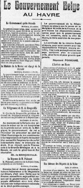 Le Petit Havre 15 10 1914