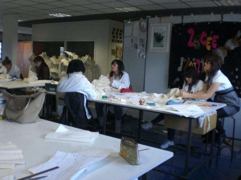 Les élèves du Lycée Maillol au Travail