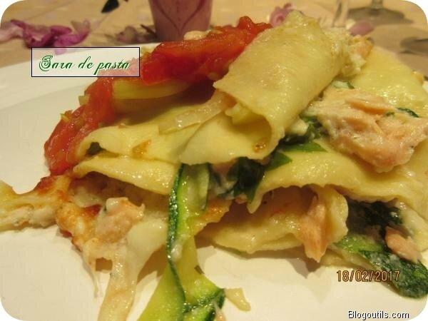 Lasagne au saumon.
