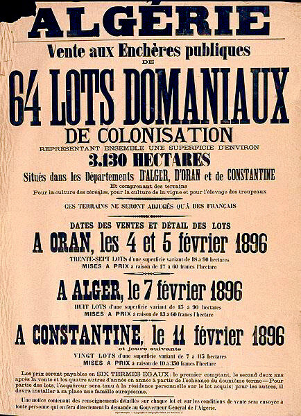 lots domaniaux, 1896
