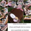 Kit mini-album clean and simple tout en couture
