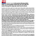 Lettre ouverte ouverte du syndicat cgt territoriaux au maire du blanc-mesnil!