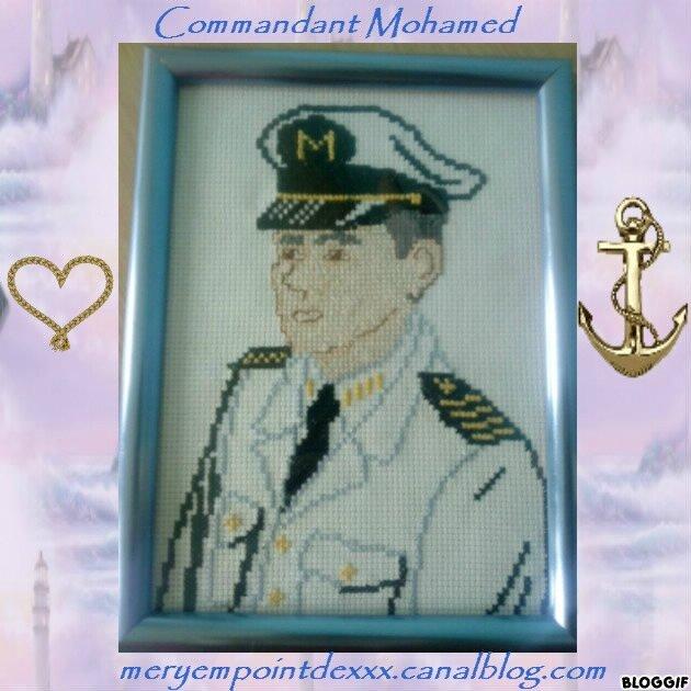 Commandant Mohamed!!!! ( kado de remise de master de mon mari)