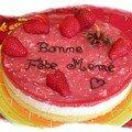 Gâteau à la fraise et au vin mousseux