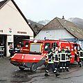 Exercice des sapeurs-pompiers de bourbach-le-haut et adieu a la motopompe