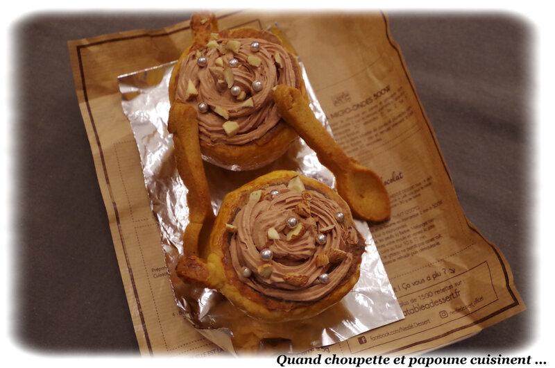 mousse chocolat caramel en tasse de pâte sablée-777