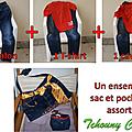 Commande personnalisée : sac et pochette