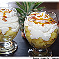Verrine ananas et chantilly coco