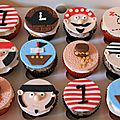 Cupcakes theme pirate