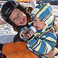 2012.02.06 Louise et ses débuts à Ski avec Camille