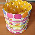 Le pot à barrettes aux couleurs du printemps