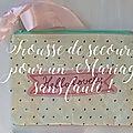 Trousse de secours pour un mariage sans accroc !