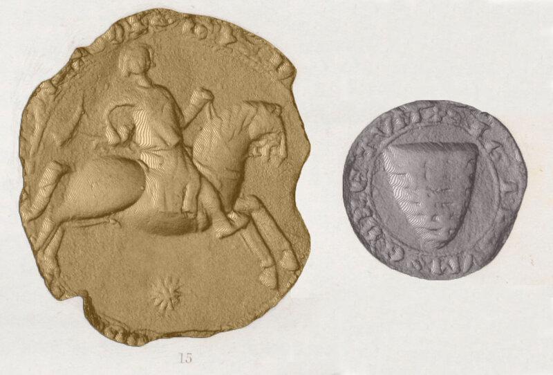 sceau et le contre-sceau Famille Lusignan