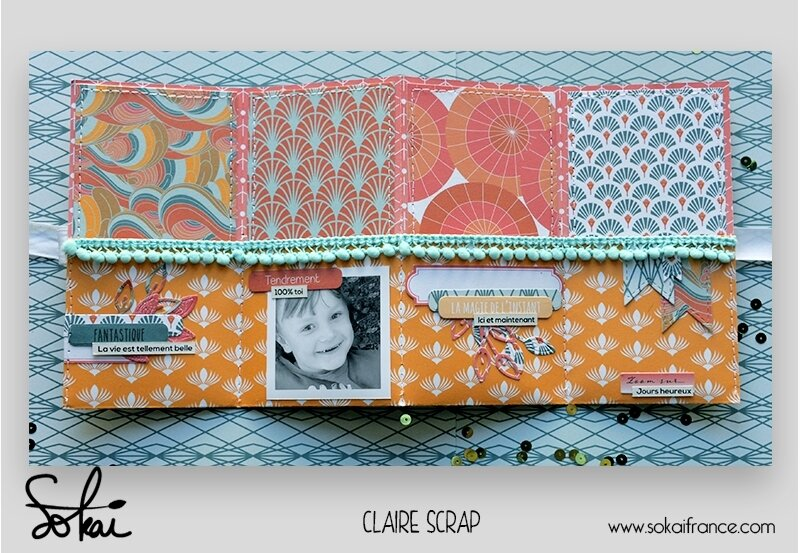 mini tag Maé - collection So'leil levant- ouvert vide - claire scrapathome - sokai