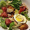 Poulet le dimanche, salade vite faite le lundi