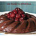 Gâteau moelleux chocolat cerises sans gluten