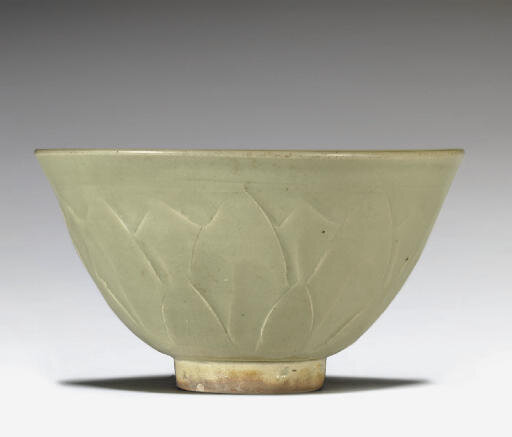 A Yaozhou celadon carved bowl, Northern Song dynasty, 11th century