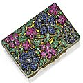 Silver, silver-gilt and colored stone compact