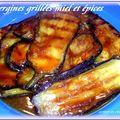 Aubergines grillees au miel et epices