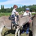 Juillet 2011:Je fais une promenade à dos d'âne