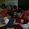 Classe de Laëtitia 4Chaque élève du C.P dispose de sa partie de l'histoire à lire