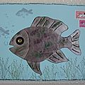 "Mail art ""poisson d'avril"""