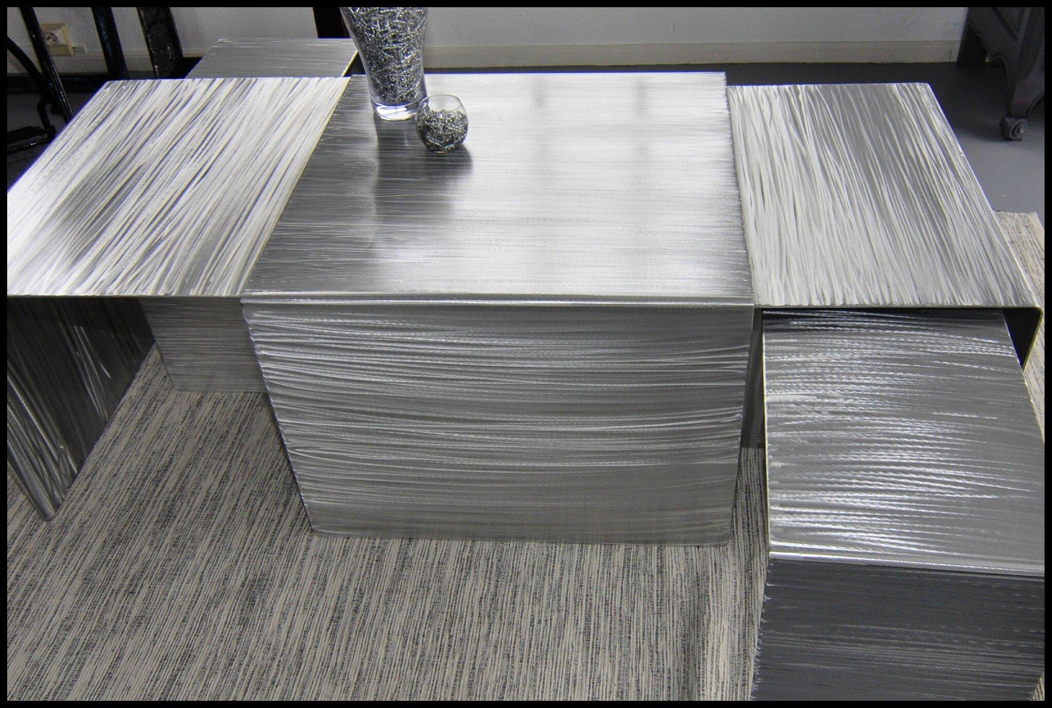 Basse Une Aluminium Brossé En Lyvie Gigogne Table Modulable Comba Yf6b7gy