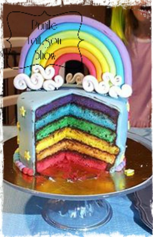 intérieur rainbow cake little pony prunillefee