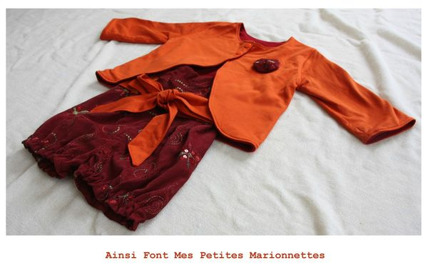 ens boudoir gilet rouge orange 1