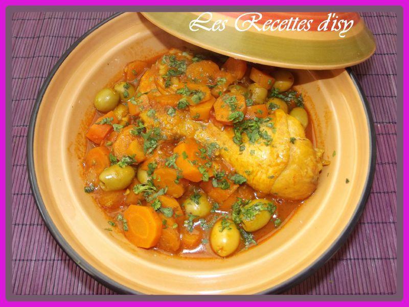 tajine poulet carottes et olives1