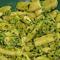 Pâtes au kitchenaid et pesto au cook'in